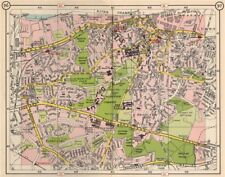 SE LONDON Charlton Woolwich Plumstead Charlton Shooters Hill Kidbrooke 1953 map