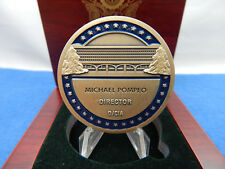 MICHAEL POMPEO DIRECTOR OF THE CIA-CHALLENGE COIN IN A SOLID WOOD BOX SET