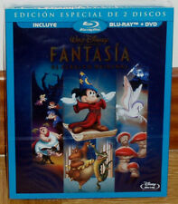 FANTASIA CLASICO DISNEY Nº 3 BLU-RAY+DVD DISNEY SLIPCOVER PRECINTADO NUEVO R2
