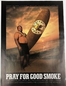 Vintage Print Ad Cigar Surfboard Sunset Beach