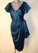 Super Etui Satin Glanz Kleid Gr XL von Pinup Couture in Blau NEU II23