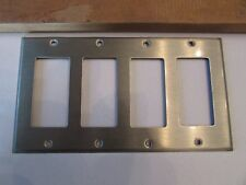 NEW LEVITON 84412-40 Decora GFCI Wallplate 4-Gang Type 302 Stainless Steel