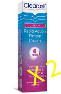 2 X Clearasil Ultra Pimple Cream (4 Hr) Rapid Action - 15Ml