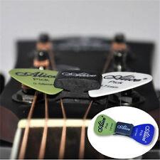 Cool 1PC Black Guitar HeadStock Pick Holder Rubber + 2Pcs Mixed Guitar Picks New