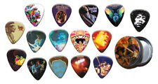 More details for jimi hendrix 15 x plectrums with tin guitar picks - gold range