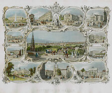 SOUVENIR DE BERLIN COOKE DONDORF 1840 ALTKOLORTIERTER STAHLSTICH SOUVENIRBLATT