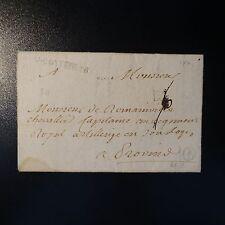 FRANCE MARQUE POSTALE LETTRE COVER V. COTTERETS 1770 A SEC L3a