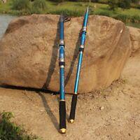 Telescope Fishing Rod Sea Slat Fresh Water Fish Spinning Pole 2.1m Carbon Fiber