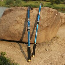 Telescope Fishing Rod Sea Slat Fresh Water Fish Spinning Pole 2.1m Carbon Fiber