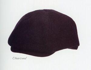 Dorfman Men Cap Newsboy Heathered Wool Ivy Hat S/M or L/XL Charcoal Navy MW288