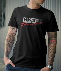 JDM HKS POWER AND SPORTS JAPANESE  STYLE LOGO RACE DRIFT COTTON GRAPHIC T-SHIRT