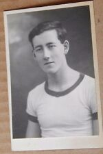 Photograph Social History Young Man In Army PT Kit 1940's 4 x 2.5 inches,