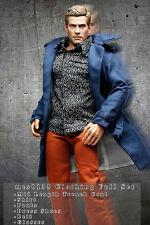 mcs0135 Blue Black Clothing Set Jacket+Shirt+Pants+Belt+Shoes+Glasses 1/6 Figure