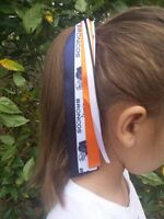 Team Colors Ribbon Ponytail Holder Made with Denver Broncos Ribbon