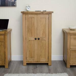Rustic Solid Oak Hallway Modern Furniture Shoe Storage Cupboard Rack