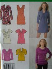 Simplicity Sewing Pattern-Misses' KNIT MINI-DRESS-TUNIC-TOP-Sizes: 12-20-UNCUT