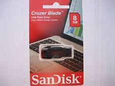 SanDisk Cruzer blade IM KARTON 8 GB USB Stick flash drive usb 2.0 Neuware Rechn.