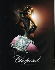 PUBLICITE ADVERTISING 045  2006  CHOPARD  montre  HAPPY SPORT  pour femme