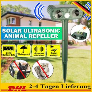 Ultraschall Tiervertreiber Solar Vogelabwehr Vogelschreck Repeller Gartenschutz