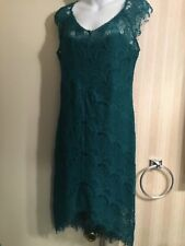 Intimately Free People Women's Turquoise Lace Dress Size M