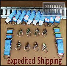 24pcs 16x E Track Tie Offs & 8x E Track Ring Truck f Cargo Van Trailer Tie Down