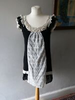 NEW LOOK WOMENS LADIES STUNNING FLATTERING LACE PEARLS EFFECT PARTY DRESS  14