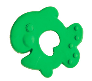 Natural rubber teething toy Fish by Lanco, fully moulded, 0 months+