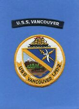 USS Vancouver LPD 2 Navy Jacket Patch with Shoulder Tab