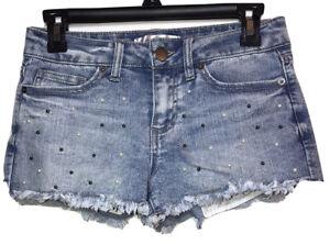"No Boundaries Jean Shorts M Wash Women's Juniors size 9 With Pearls Waist 14"""