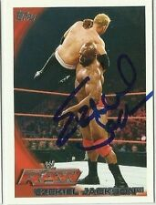 WWE EZEKIEL JACKSON Topps Signed Card