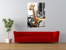 NEW YORK CITY SAFARI GIRAFFE ANIMAL GIANT ART PRINT PANEL POSTER NOR0293