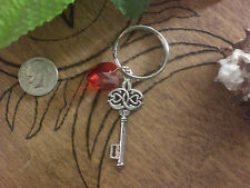 Twilight Vampire Celtic Cottage Key Ring Red Crystal Heart Purse Charm