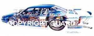 WARREN JOHNSON'S PS.Cutaway Cutlass... Drag Racing Art Print