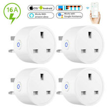 4X Wireless Smart Plug WiFi Sockets Power Socket Google Home IFTTT Amazon Alexa