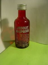ABSOLUT  VODKA MINI RASPBERRI EMPTY BOTTLE 50 ML