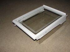 Ge Refrigerator Left Glass Shelf W/ Shroud Wr17X2844 Wr32X1471 (S21966)