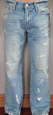 New American Eagle Men's Jeans Low Rise Boot Destroyed Size 28x28