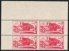 Österreich 1938 Schuschnigg Vignette 5 Groschen rot 4er-Block postfrisch LUXUS