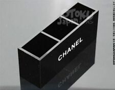 New Chanel Member Gift Black Glossy Makeup Brush Holder Organizer 3 Grid Acrylic