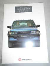 Vauxhall Frontera range brochure 1992 models Ed 1