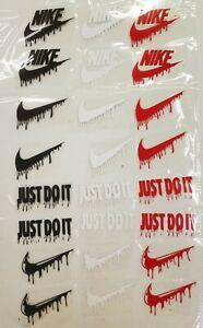 "24 pcs mix color  Iron On Heat Press vinyl Flex Logo nike drip 2""×3"" approx"