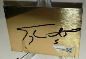 Terry Labonte Autographed NASCAR Signed 3x2.5 Metal Cut Plaque Fanatics #A973465