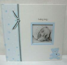 L'il Peach Bear Baby Boy Memory Book blue & white Nib New