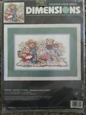 Dimensions Counted Cross Stitch Kit #3809 Teddy Bear Picnic
