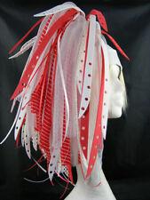 CYBERLOXSHOP REDBLEACH CYBERLOX CYBER HAIR FALLS DREADS GOTH RAVE RED WHITE