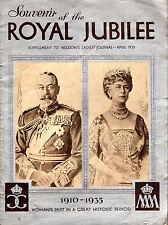 SOUVENIR OF THE ROYAL JUBILEE - KING GEORGE V - WELDON LADIES' JOURNAL (1935)