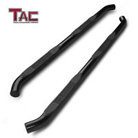 """For 2005-2021 Toyota Tacoma Double Cab 3"""" Side Step Nerf Bar Running Board Black"""