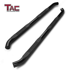 For 2005 2021 Toyota Tacoma Double Cab 3 Side Step Nerf Bar Running Board Black