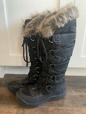 Women's Guess Snow Boots, Faux Fur Lined, Black Camo , 8