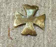 Medical Department Officers Collar Insignia Span-Am War Gold Gilt pin